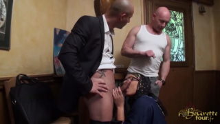 Beurette Tour – Samira Abibe Getting On Her Knees for Blowjob