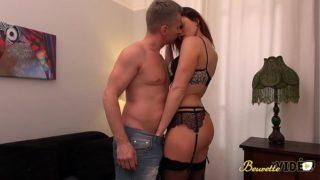 Beurette Video – Skinny Brunette in Sexy Lingerie Picked and Fucked